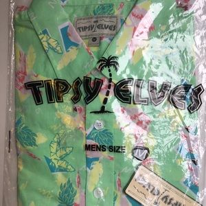 8c6cc955 Tipsey Elves Shirts - Tipsey Elves Sz.M Polly Wanna Party Hawaiian Shirt